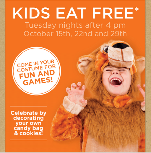 bobevanskidsfree Bob Evans: Kids Eat FREE on Tuesdays in October + Decorate Your Own Candy Bag and Cookies!
