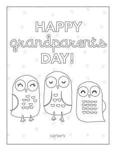 coloringpages1 231x300 FREE Grandparents Day Coloring Pages from Carters!