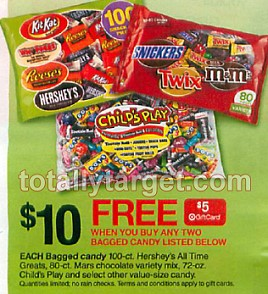 Mars 80,piece Variety Bags of Halloween Candy Only $4.50 at