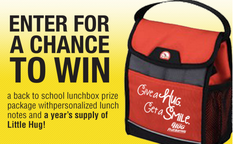 little hug Little Hug Fruit Barrels Back to School Sweepstakes!