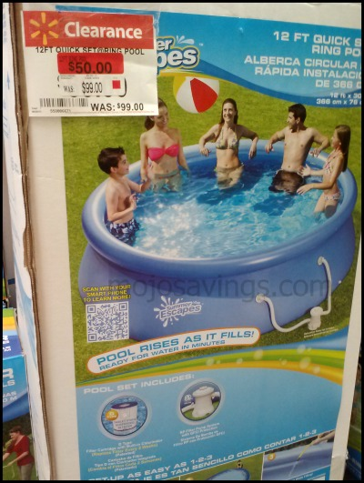 Summer escapes 12 ft pool normally 99 clearanced for 50 - Swimming pools for sale at walmart ...