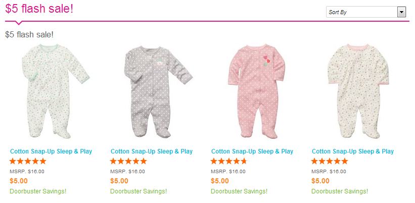 sleepnplay Carters $5 Sleep and Play Flash Sale  Still Available!!!