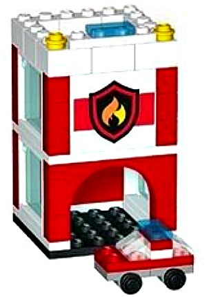 Lego-Mini-City-Firehouse-Build