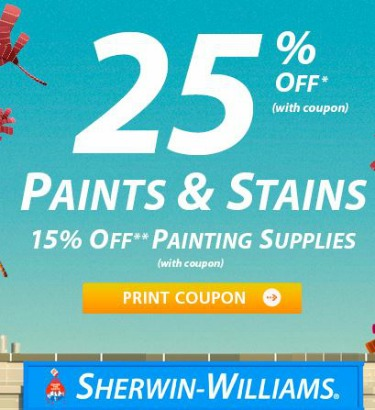 Sherwin Williams Coupons & Promo Codes - Coupon Cabin. $10 off $10 off purchases of $50 when you text COLOR to to join the cspanel.ml mobile notifications club Ends Nov. 30, $10 avg saved Painting your home with quality colors is $10 cheaper when you text Sherwin Williams for the discount on $50 orders.