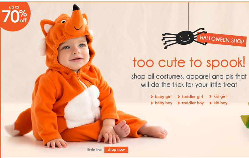carters Carters: Up to 70% off Sale on Clearance and Costumes!