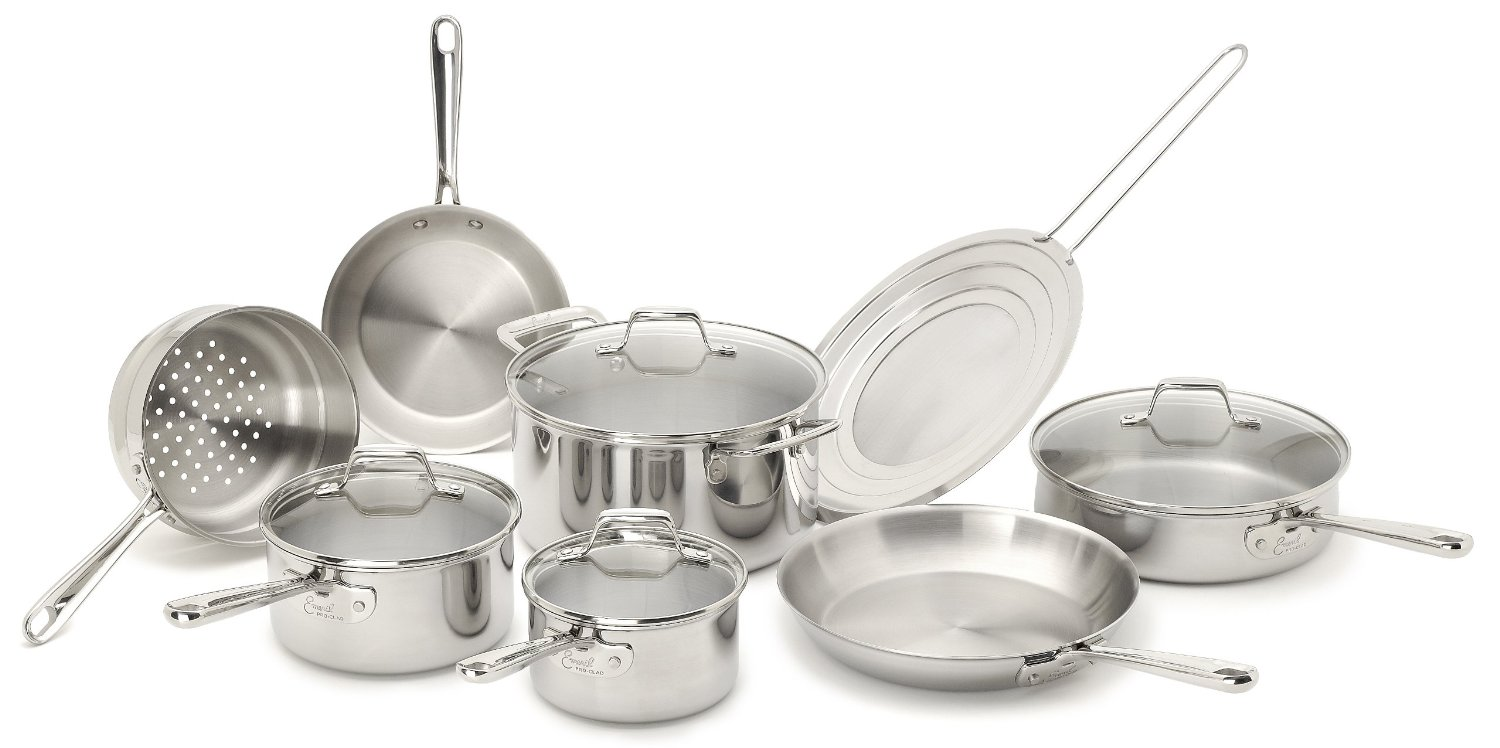 Emeril by All-Clad Stainless Steel 12-Piece Cookware Set only $150 ...