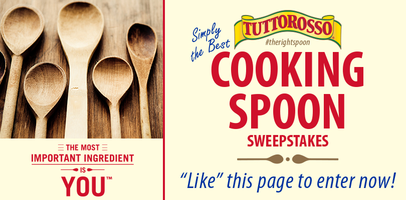 "tuttorosso  Tuttorosso ""Simply the Best Cooking Spoon Sweepstakes (Win a Wooden Cooking Spoon!)"
