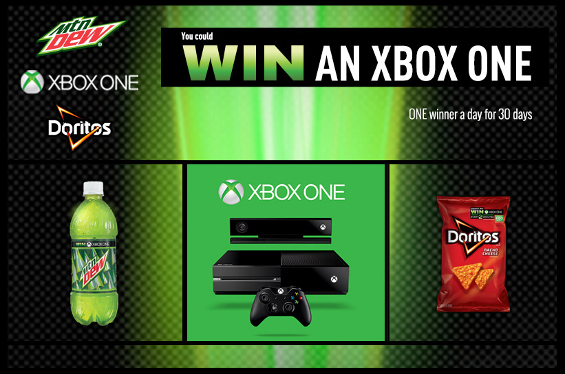 xboxone Kroger & Mountain Dew One a Day Giveaway! One FREE Xbox One Everyday!