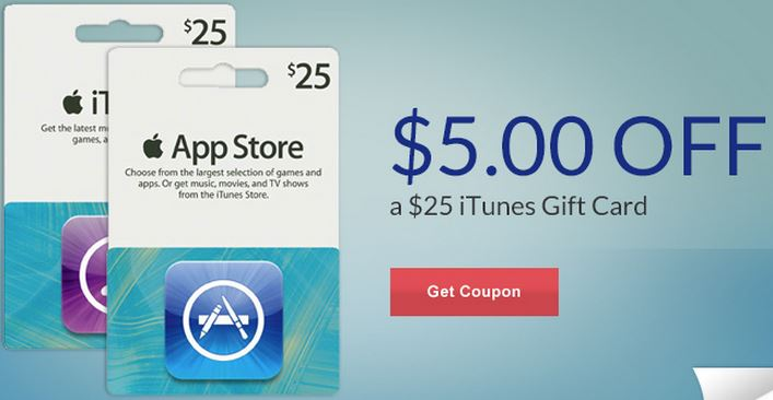 5 off iTunes Rite Aid coupon $5 off $25 iTunes Gift Card Rite Aid Coupon  HURRY, Limited Quantities!