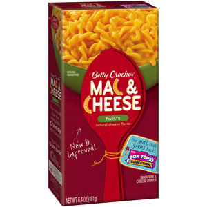 Betty Crocker Mac and Cheese2 Free Betty Crocker Macaroni and Cheese‏ (Kroger and Affiliate Stores)  Live Now!