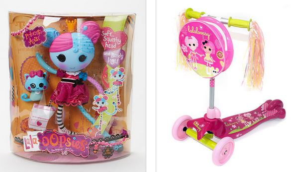 Lalaloopsy doll and scooter