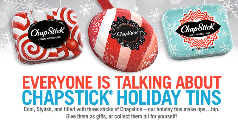 FREE Chapstick Holiday Tins Gi...
