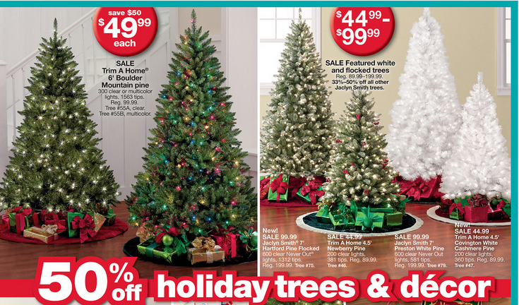 28 Live Christmas Trees At Kmart Trim A Home 174 144 Quot X 90 Quot Large Christmas Tree