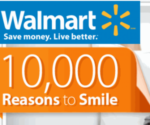 walmartsweeps Walmart 10,000 Reasons To Smile Sweepstakes & Instant Win Game!