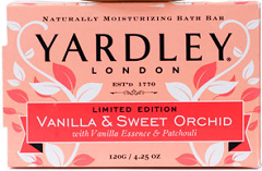 yardley FREE Yardley London Vanilla & Sweet Orchid Bath Bars  LIVE at 12 NOON EST!