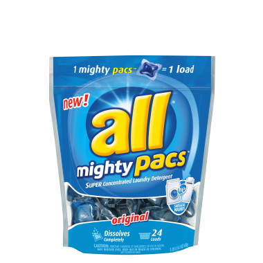 All Mighty Pacs 24 ct All Laundry Detergent Just $1.24 at Publix