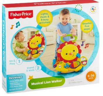 Fisher Price Lioon Musical Walker Fisher Price Lion Musical Walker Just $13.99 (reg. $24.99)