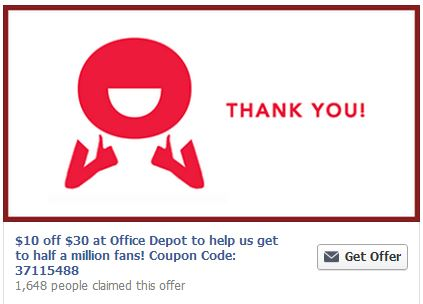 Office Depot 10 off coupon Office Depot: $10 off $30 Coupon + FREE $5 Gift Card Offer