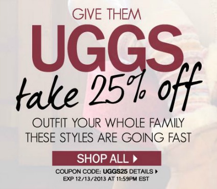 Uggs coupon codes online