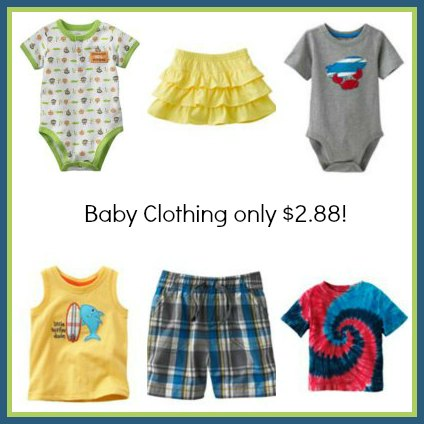 bc collage Kohls Baby Clothes Clearance prices start at just $2.88 shipped!
