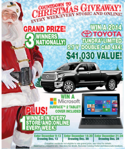 christmas 251x300 Bass Pro Shops Countdown to Christmas 2013 Sweepstakes! Win a Surface Tablet or a Toyota Tundra!