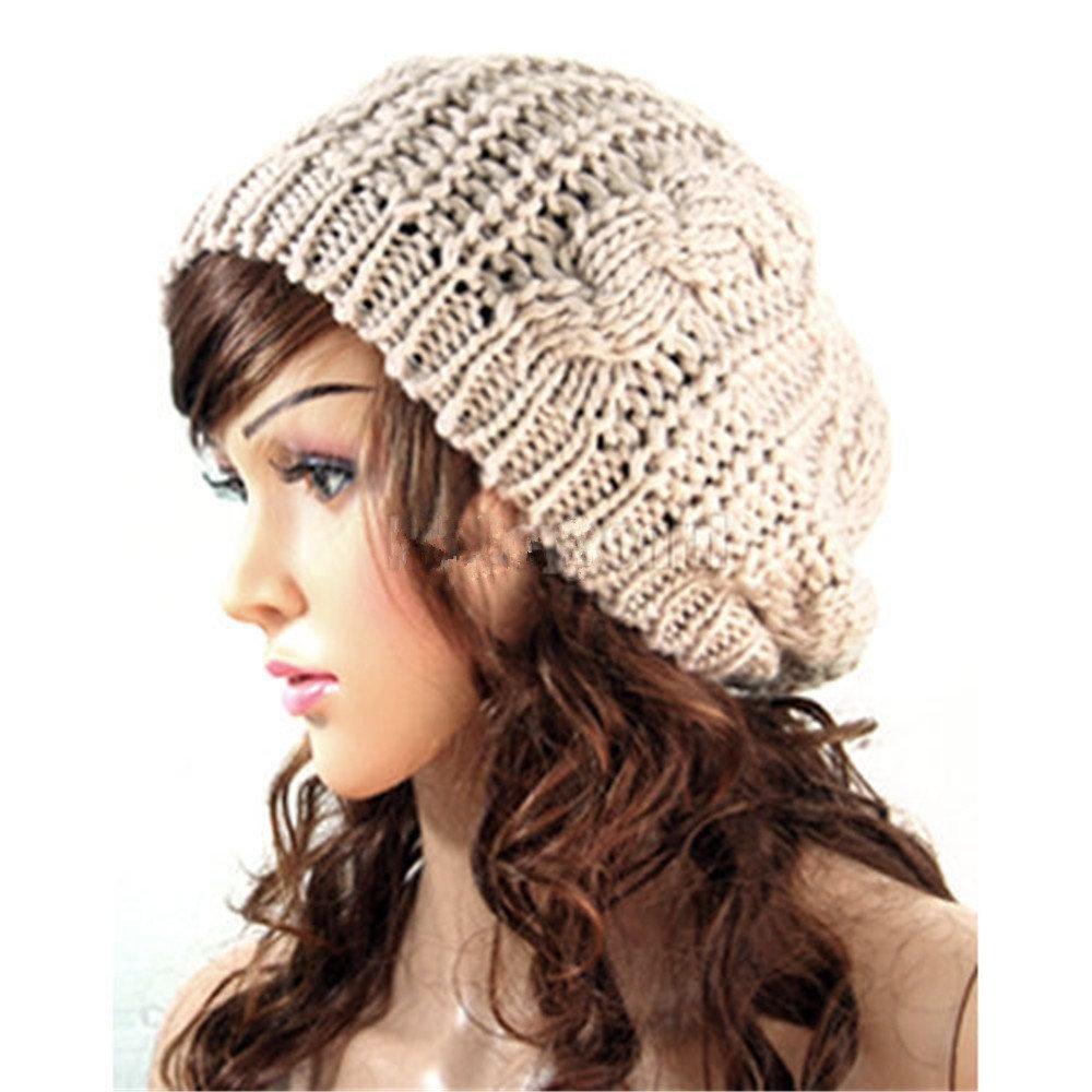 Women's Crochet Baggy Hat only $3.61 shipped!