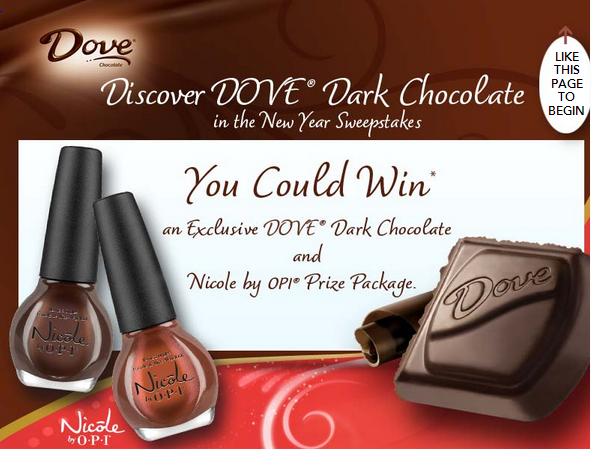 dove Dove Discover Your Dark Side in the New Year Sweepstakes – Win a O.P.I Nail Package! (25,000 Winners!)