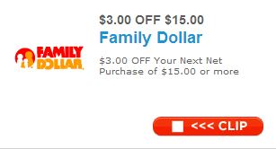 family dollar 3 off coupon Family Dollar $3 off $15 Coupon