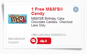 mms1 FREE M&Ms Birthday Cake Candy at Meijer!