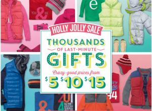 ongifts 300x220 Old Navy: Gifts Starting at Only $3 + 60% off Throughout the Store!