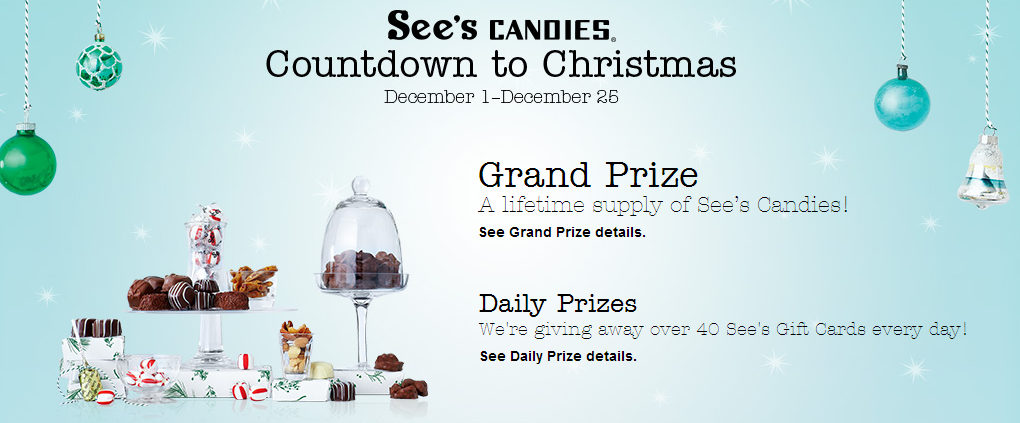 seescandies Sees Candies Countdown to Christmas Win 1 of 1,000 Gift Cards!