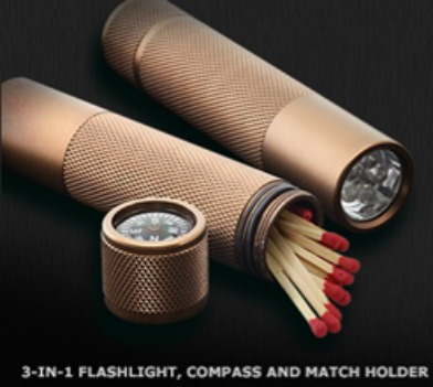3 in 1 Flashlight Compass and Match Holder FREE 3 in 1 Flashlight, Compass and Match Holder from Marlboro!