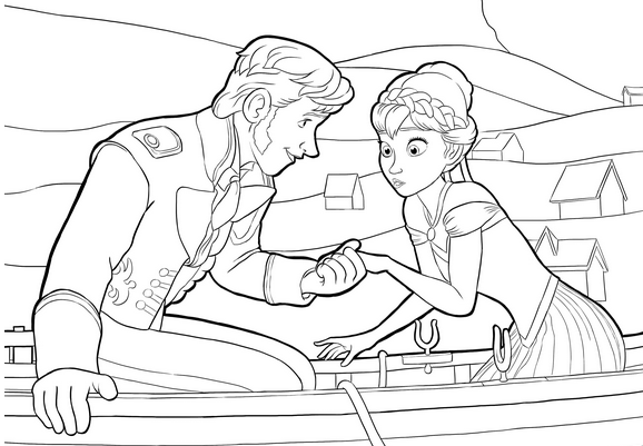Frozen coloring pages