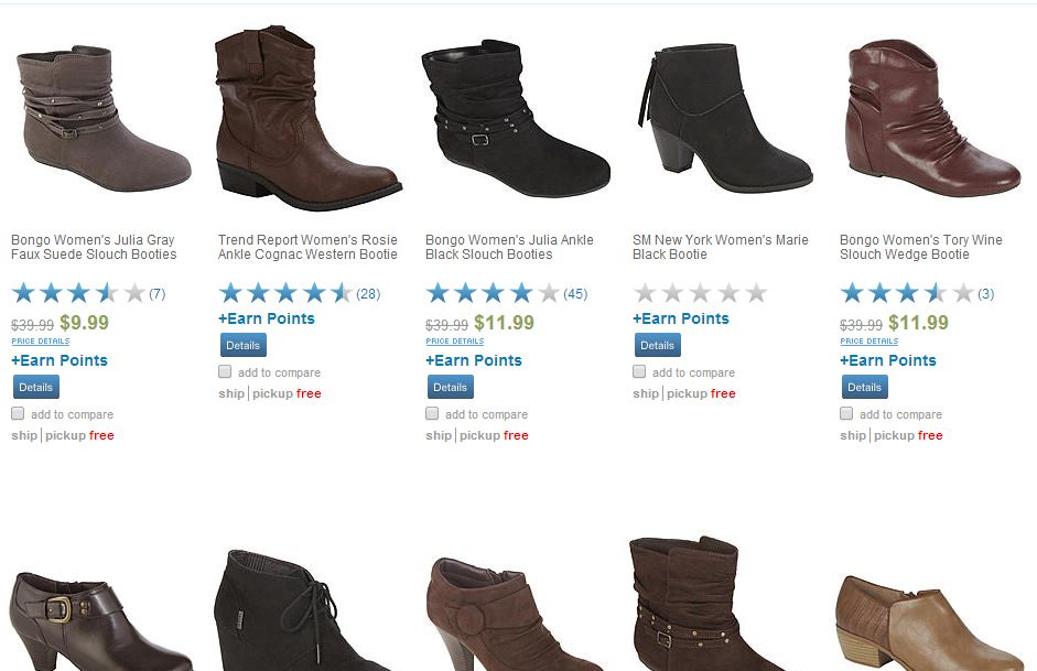 boots1 HOT! Sears Huge Boot Clearance Sale  Boots As Low As at $4.99 + Free Shipping!