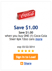 cokesixer 220x300 New High Value $1.00/1 Coca Cola Kroger Coupon!