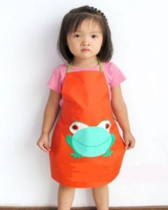 frog 240x300 Adorable Childrens Waterproof Apron With Cartoon Frog Print Only $1.15 Shipped!