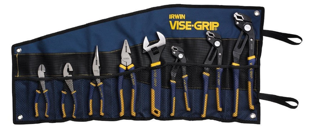 plier set 1024x433 Irwin Vise Grip 2078712 GrooveLock 8 Piece Plier Set only $59.99 (reg $146.85)