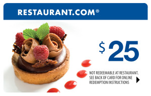restaurant.com  300x191 Restaurant.com: $25 Gift Certificates for Only $4!