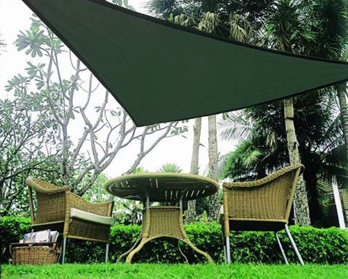 Idirectmart Triangle Sun Shade Sail 16 Feet 5 Inches Only