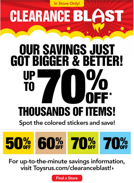 toysrus1 HOT! Toys R Us: Up to 70% off Clearance Prices!