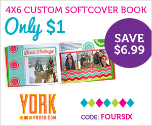 york photo book 4×6 Custom Softcover Photo Book only $3.99 shipped!
