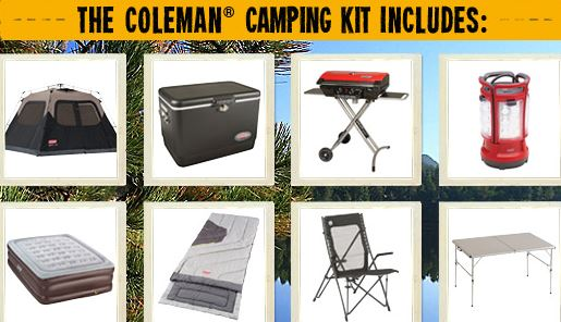 Coleman Camping Kit sweepstakes Coleman Camping Kit Sweepstakes (Over $1,000 Value)
