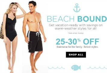 Kohls swimwear Kohls: Up to 30% off Swimwear + 20% off Coupon  Today Only!