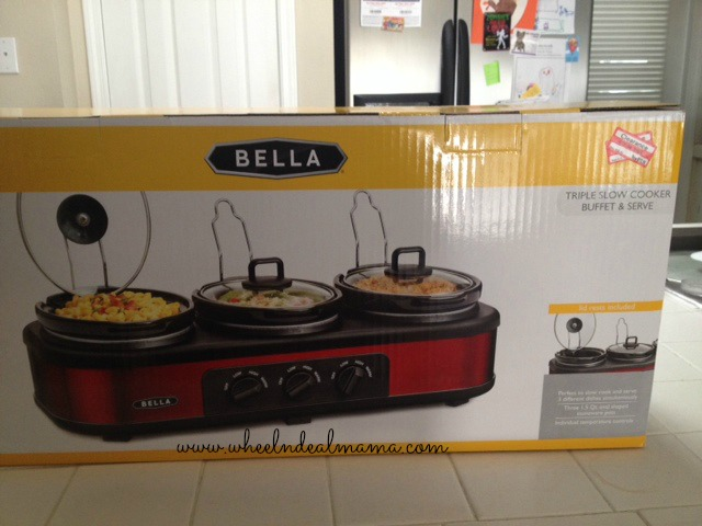 bella Target: Bella Triple Slow Cooker Only $19.99?! (Reg. $60!)