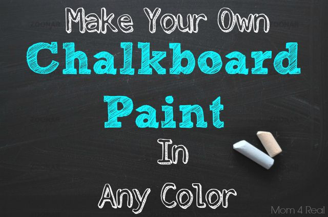 chalkboardpaint DIY: Mixing Your Own Chalkboard Paint in Any Color!