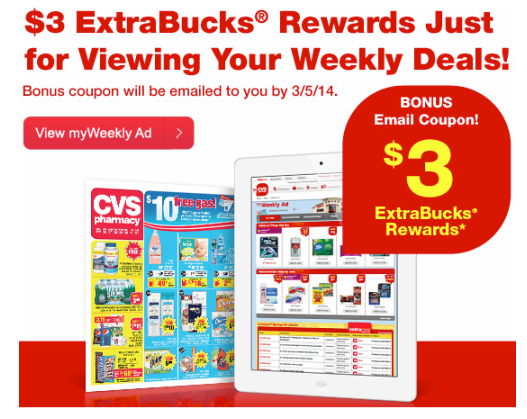 cvs3 FREE $3 ExtraCare Bucks Offer from CVS!?!