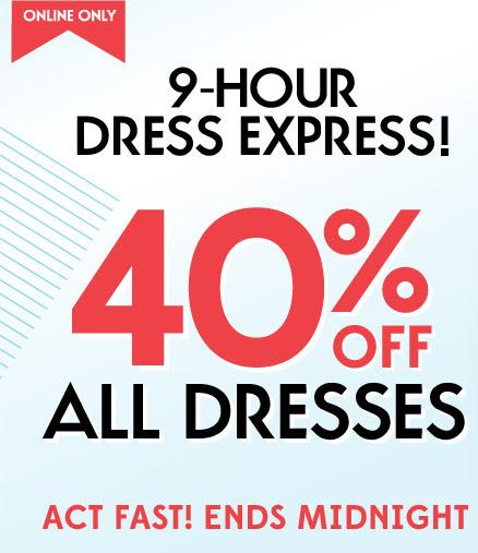 dresses Old Navy: 40% Off Dresses! (ends at midnight!)