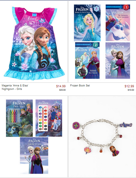 frozen Disneys Frozen Apparel, Books, and More Up to 50% Off!