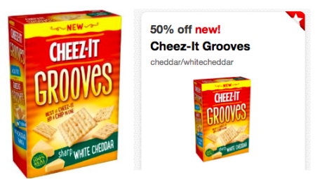 Cheez-it Grooves Only $1.25 Per Box at Target, Target Deals, Cartwheel Offers, Grocery Deals, New Product Deals