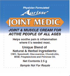 jointmedic2 FREE Sample of Joint Medic Pain Relief Cream!